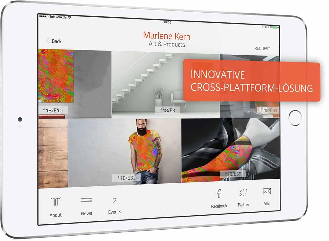 App Template Lizenz erwerben. Sie sehen ein App Template »Marlene Kern Art and Products«.